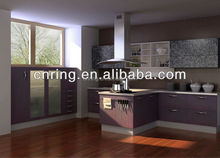 2015 modern comfort design of kitchen hanging cabinet with fully equipment