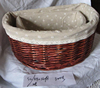 China's Storage Wicker Basket with Lining