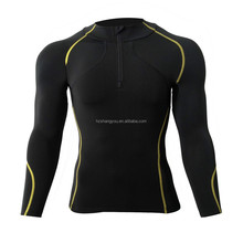 Men's Thicken Compression Base Layer Long Sleeve T-Shirts Skin Tight Black