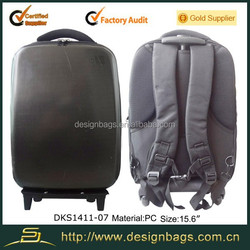 Pc nylon two use trolley backpack travel luggage