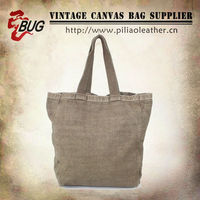 BUG most popular vintage canvas tote bag/tote bags wholesale/canvas beach bag manufacture wholesale