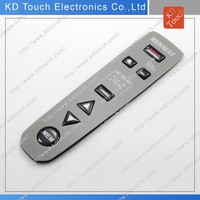 OEM silicone rubber keypad for remote with overlay