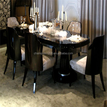 European style elegant dinning table with chairs, dinning room furniture sets