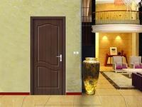 dark color mdf PVC wooden door