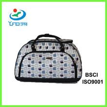 YF-TC002 Women Gender Elegant Polyester Travel Bag With Trolley