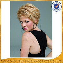 short human hair wig for white women,ombre virgin brazilian full lace wigs human hair blond wholesale two tone color