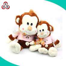 2015 wholesale cheap plush stuffed cute names monkey