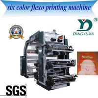 YT-6600 popular design China hot sale Six-Colour palstic flexo Printing Machine