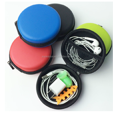 2015 Leather PU eva earphone case and earphone case with print