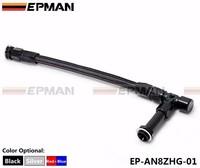 EPMAN High Quality AN8 -8AN Black Dual Feed Fuel Line 236mm -8AN Dominator Dual Feed Carb Fuel Line Kit EP-AN8ZHG-01