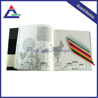 Free Sample wholesale high quality drawing book with colored pencil