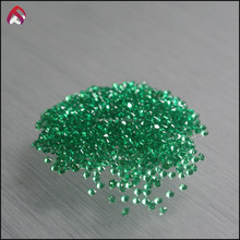 Hot sale synthetic stones nano emerald small size round shape brilliant cut