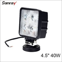 Auto lighting Square 40W LED Work Driving Lights for Farm Tractor 4X4