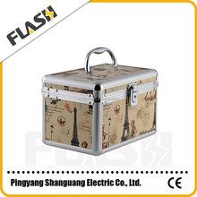 Small Portable Aluminum Storag Box Makeup Beauty Box