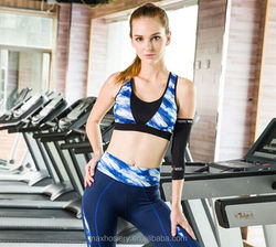 Hot sale supplex spandex dry fit fitness wear women custom print yoga suit