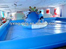 Best selling Adult size attraction playing hot inflatable adult swimming pool