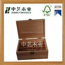 2015 year factory price FSC&SA8000 Custom essential oil box wood essential oil gift box&wooden essential oil box for wholesale