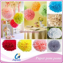 10pcs Wedding Outdoor Flower Balls Decor Tissue Paper Pom Poms Party
