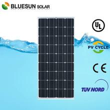 Bluesun high quality mono 140w home solar panel for home use