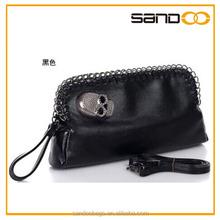 Classical of black Skull PU Clutch Bag, Hand Clutches Bag