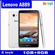 Original Lenovo A889 Cellphone MTK6582 Quad Core RAM/ROM 1GB/8GB Low Price Dual SIM 6 Inch Big Touch Screen China Mobile