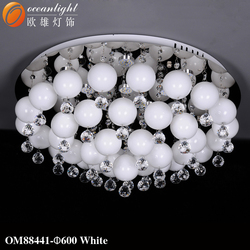 modern glass balls white and black ceiling lamps for hotel and restaurant decorative OM88441