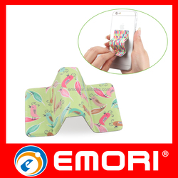 Corporate gift Microfiber Cloth Portable Adhesive Screen Cleaner & Mobile Stand