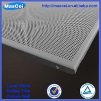 Eco-friendly perforated aluminum metal suspend ceiling tile 60x60