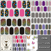 3D Nail Art Transfer Foils Stickers Super Beautiful Nail Gel Polish Wrap Mixed Designed Nail Tips Decorations Tools LAN021-40