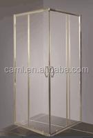 CAML Simple shower room 4mm tempered glass square Sliding shower enclosure