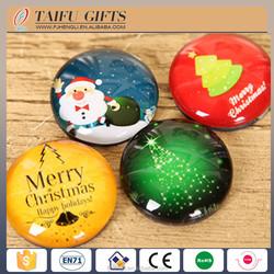 custom picture design crystal glass fridge magnet for Christmas