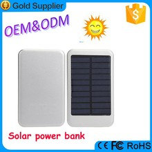 OEM/ODM offered 6000mah solar energy power bank with led charger indicator