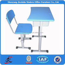 China colorful school kids university colledge steel PVC cheap steel plastic adjustbale student desk and chair