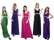 Maternity Formal Diamante Wedding Party Maxi Dress Evening Gown Bridesmaid emeraid green chiffon evening dress