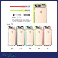 Fashion tpu sense flash light up usb cable for iphone 6 led case