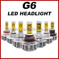 Newest G6 no fan all in one design h7 2800lm philip super bright high power led headlight bulb h7