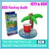 EN71 6P PVC Palm tree Inflatable drink holder float salad bar palm tree