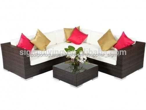 Exterior de pl stico de jardim sof de vime conjunto for Sofa plastico exterior