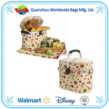 Picnic basket bag, picnic basket bag for 4, picnic basket with picnic sets