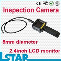 2.4inch LCD 8mm Waterproof Drain cleaning plumber pipe Borescope endoscope inspection camera