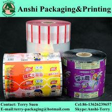 Print food packaging plastic roll film for biscuit,candy,coffee,sugar,juice packaging