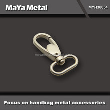 MaYa Metal high quality classic 25mm nickel dog hook for leather bag