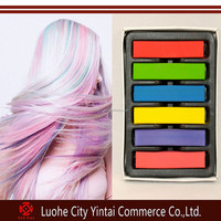 Salon equipment 6 color set hair coloring tools/temporary hair color chalk/soft hair dye pastels on sale