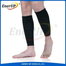 Copper inject compression leg and calf sleeve for leg support
