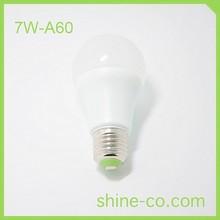 7W A60 LED E27 Small Base Light Bulbs LED Globe Bulb CRI>80Ra More Natural Light Protect Eyes Colored Chandelier Light Bulbs