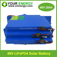 URE Factory lifepo4 48v battery pack for electric scooter top quality with BMS 48v 20ah lifepo4 battery pack