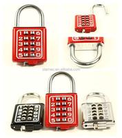 Colorful Combination Digital Password Padlock Outdoor Combination padlock with master key