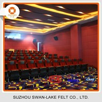 Soundproofing Polyester Material Fire Resistant Decorative Acoustic Wall Panel for Theatre