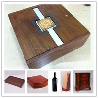 Personalized luxury wooden cosmetic box
