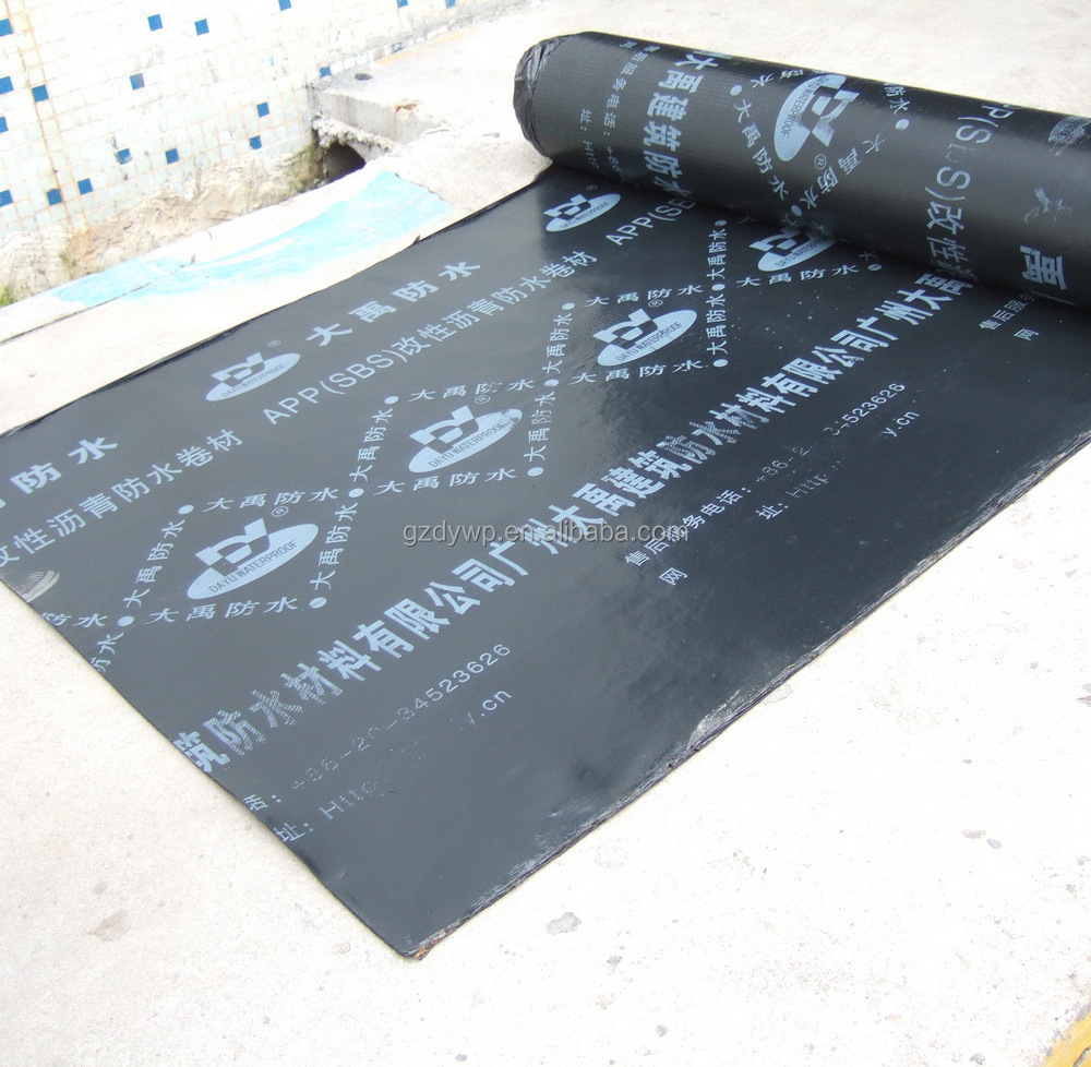 Elastomeric Waterproofing Membrane : Sbs bituminous polyester reinforced waterproofing membrane